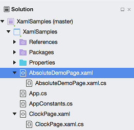 Solution window with nested files in Xamarin Studio
