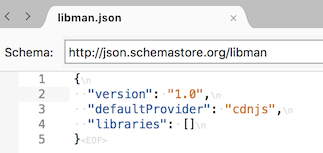 libman.json file in text editor