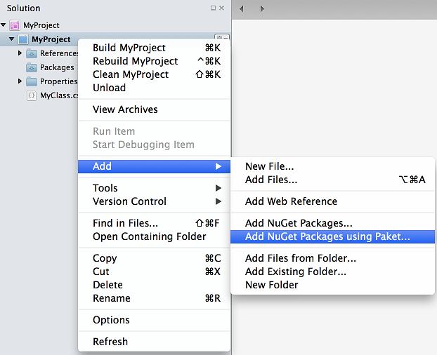 Paket Support in Xamarin Studio - Matt Ward